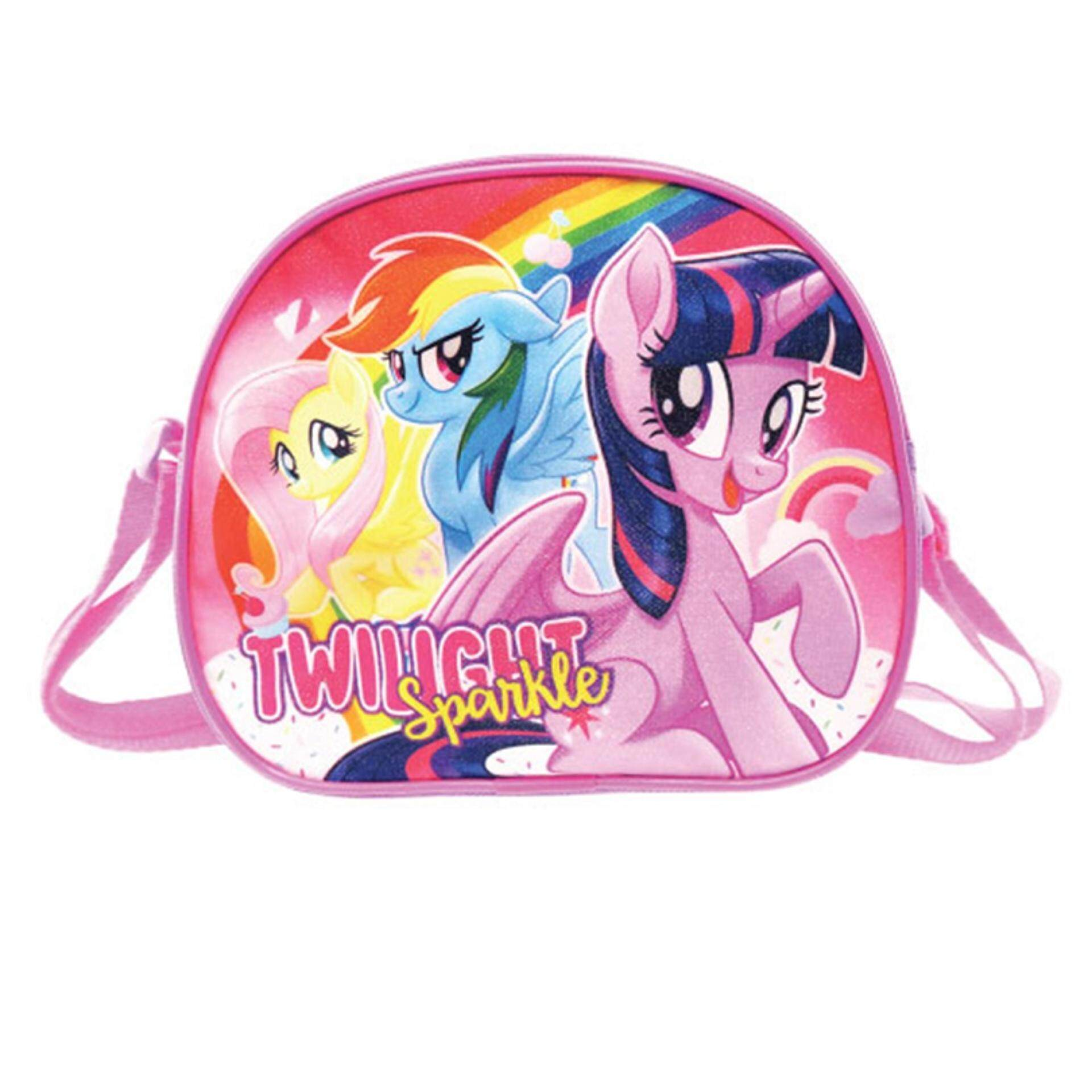 Komic Produk Terbaru Phillipe Joordan North Tas Backpack Wanita Hijau Canvas My Little Pony Oval Sling Bag Twilight Sparkle