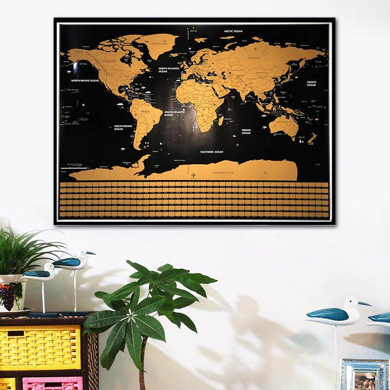 Scratch Off World Map XXL Deluxe Edition