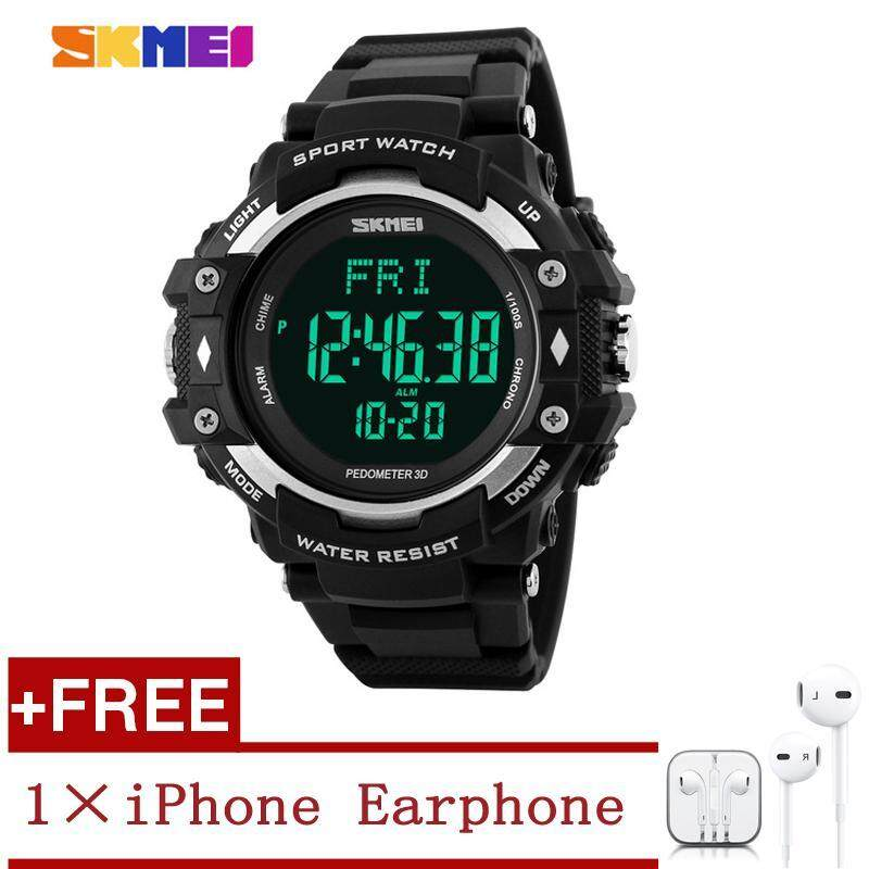 SKMEI 1180 3D Pedometer Tracker Digital LED Display Mens Outdoor Sports Waterproof Watch Sports Watch For Men Malaysia