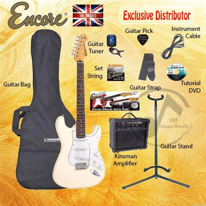 ENCORE EBP-E6VW White Electric Guitar Package Starter Pack Electric Guitar Bundle Malaysia