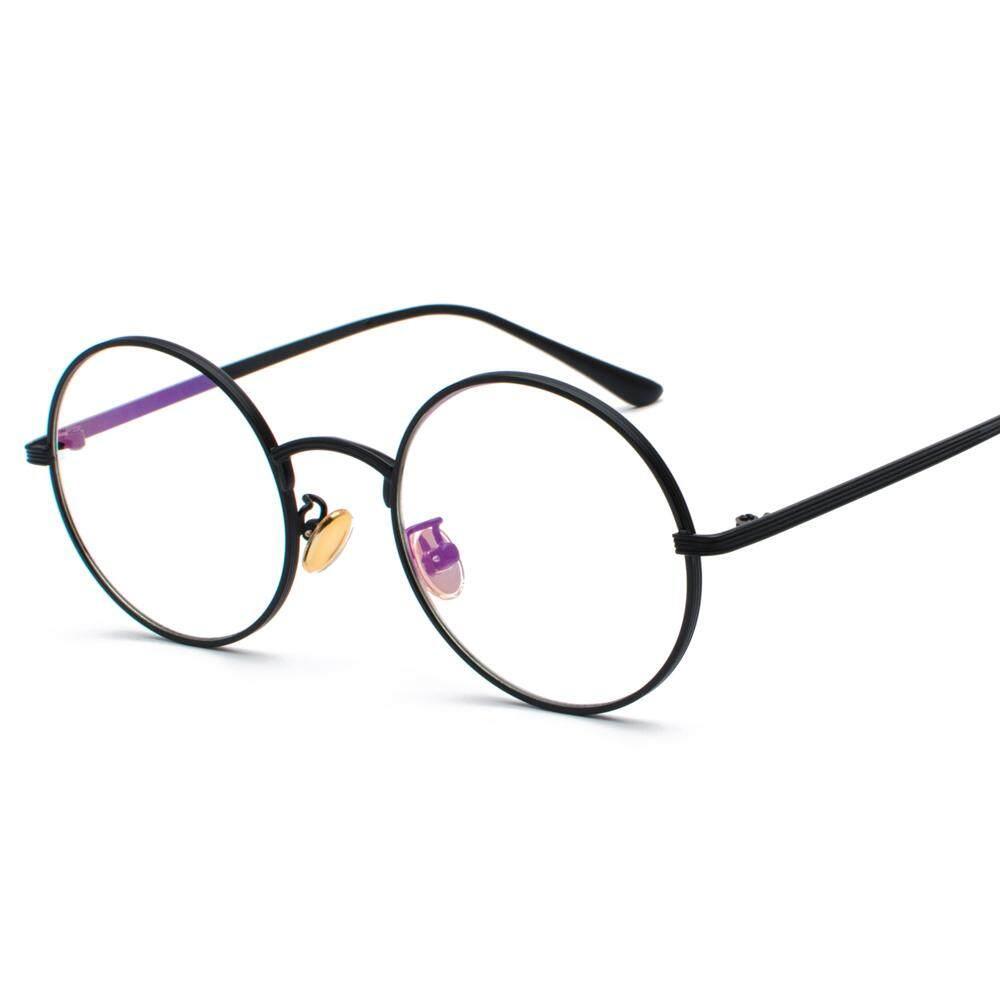 9de6871075 Women Eye Glasses Frames Round for Men 2019 Clear Lens Vintage Retro Round  Circle Metal Frame