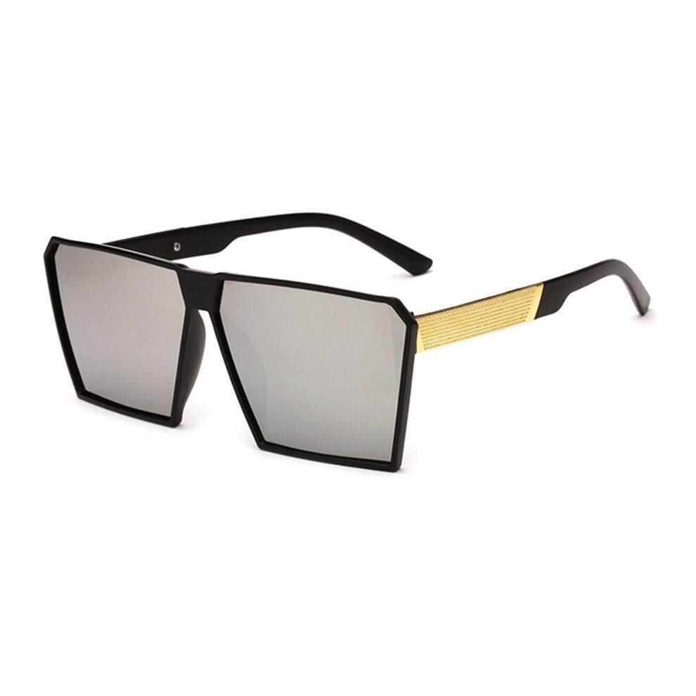 Popo Modis Pria Kacamata Antiultraviolet Kacamata Bingkai Besar untuk Pantai