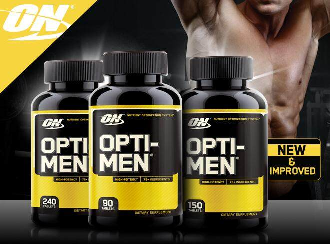 Optimum Nutrition Optimum Nutrition Opti Men multivitamin gym supplement muscle energy - 150 Capsules