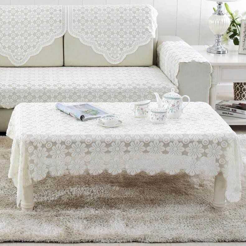 Minimalis berongga model Eropa taplak meja renda kain meja teh kain penutup Taplak .