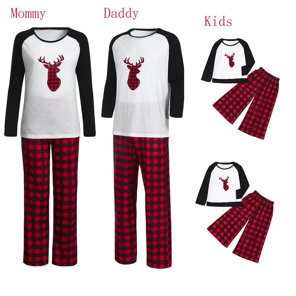 e49436a067 Kohlershop Women Mommy Plaid Blouse Pants Family Pajamas Sleepwear Matching  Christmas Set Free shipping