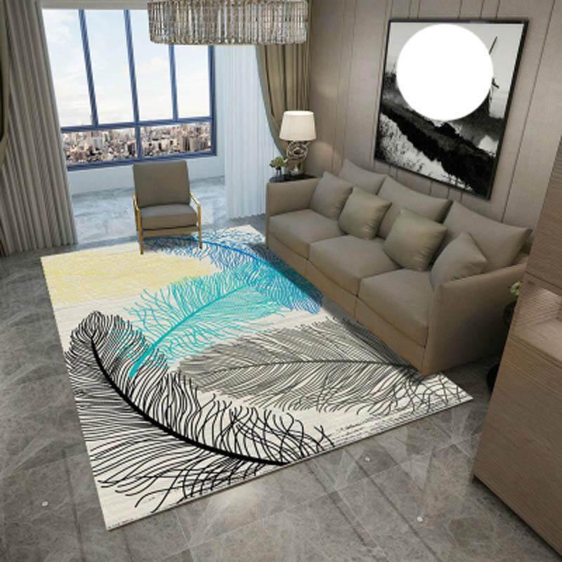 Nordic Washable Geometric Living Room Floor Mat Bedroom Bedside Carpet Non Slip Entrance Doormat Tea Table Tatami Mats 80x120cm