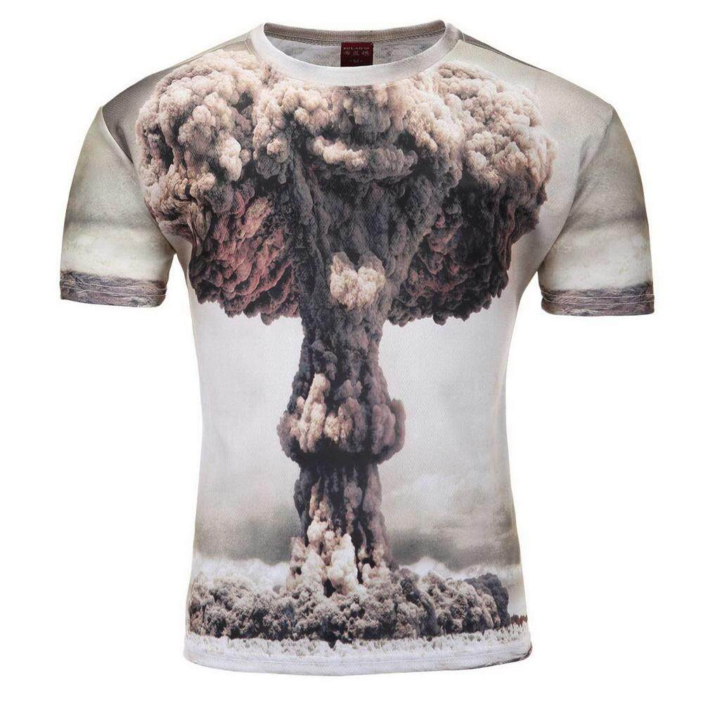 Cocotina Plus Size Funny Men's 3D Printed T-Shirts Summer O-Neck Short Sleeve