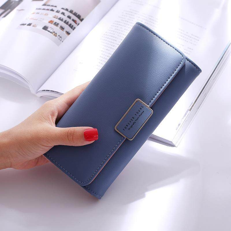 Solid Elegant Womens Wallets Forever Young Long Purse Ladies Pu Leather Brand Multi Functional Card Holder Clutch Wallet Female By Kerry Trading.
