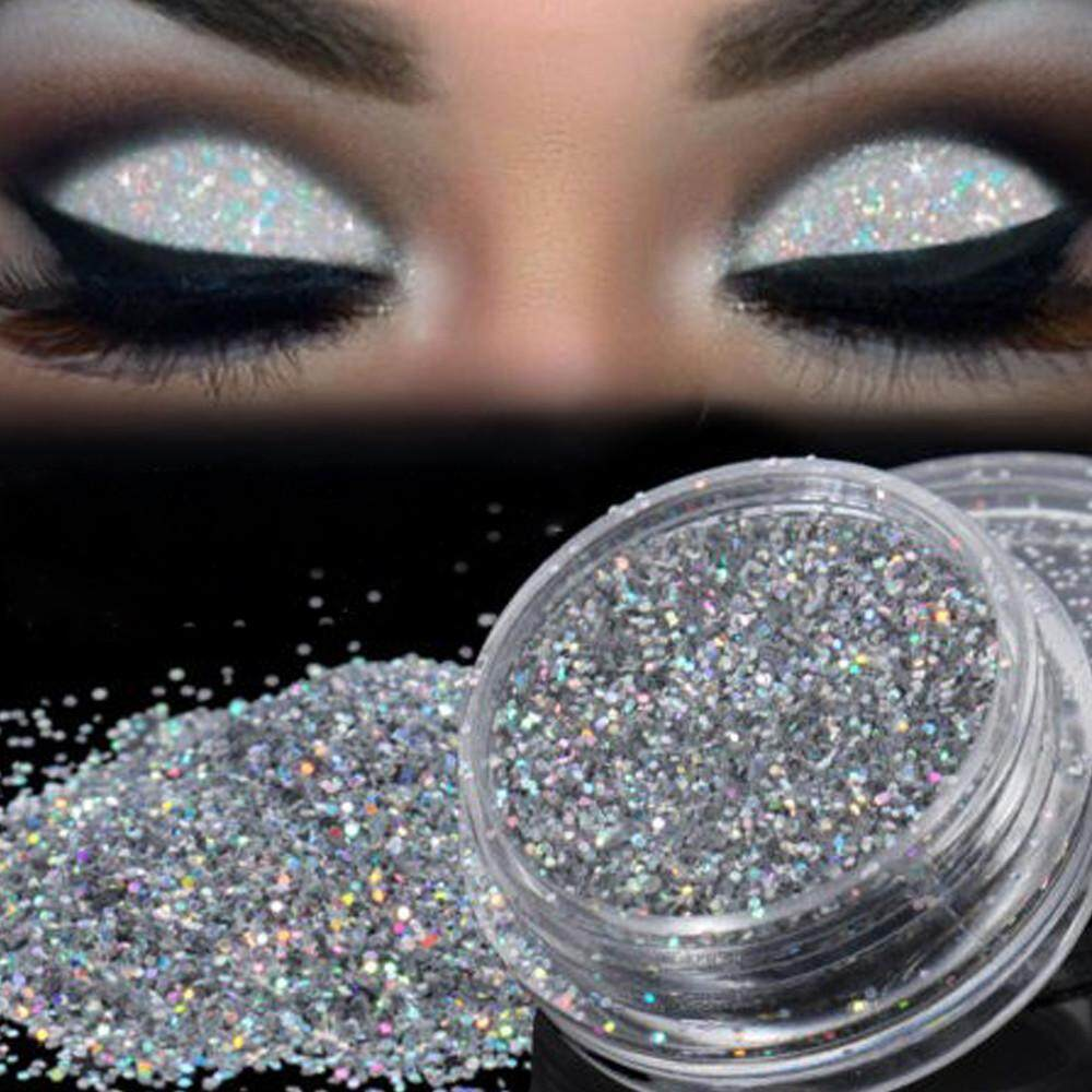 Lion Sparkly Makeup Glitter Loose Powder EyeShadow Silver Eye Shadow Pigment Philippines