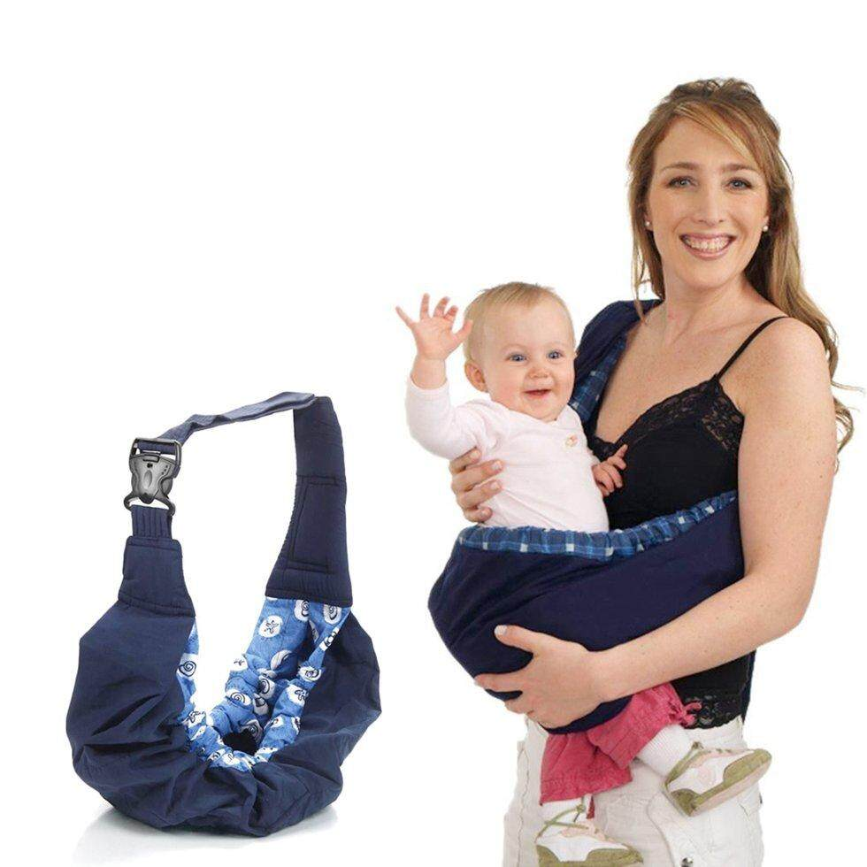 94f8b1ad6a7 Gift Newborn Baby Infant Toddler Cradle Pouch Ring Sling Carrier Kid Wrap  Bag Blue Pattern Edge