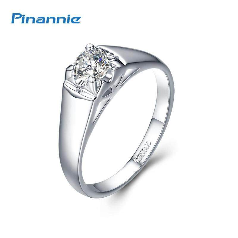 Pinannie Rhodium Plated 18KRGP Engagement Rings Jewelry for Women