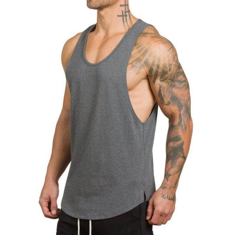Mens Sleeveless Cotton Breathable Sweat Loose Fit Workout Tank Tops By Audew.