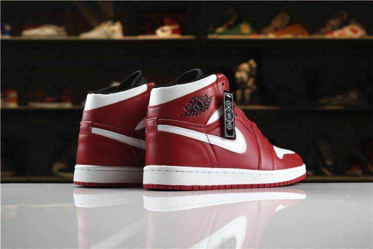 super popular 036d3 96a6b Nike Official Michael Jordan 1 MENS Basketaball Shoe MJ Sneakers AJ Red  White Air Jordan