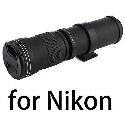 【Flash Deal】lightdow 420-800 Mm F8.3-16 Super Lensa Telefoto Manual Lensa Variabel untuk Nikon