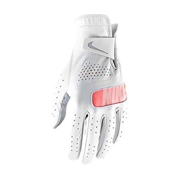 Nike Tour Golf Sarung Tangan 2017 Wanita Regular Putih/Serigala Gray/Lava Cahaya Cocok untuk Tangan Kiri Kecil internasional