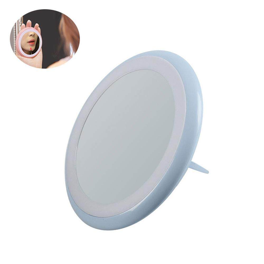 Treeone Mini Makeup Mirror with Light - Warm Led Lighted USB Chargeable Makeup Mirror with Foldable Bracket Ring for Girls Ladies Women Philippines