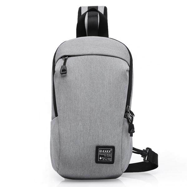 KAKA Men Multi-function Portable Crossboby Bag Fashion Waterproof Light  Weight Sling Bag grey edea39dfdc