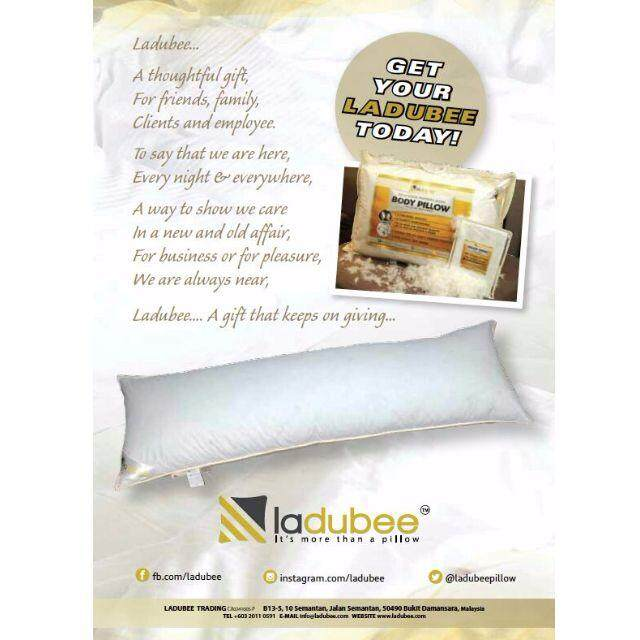 White Goose Down & Feather Body Pillow (Without Cover)