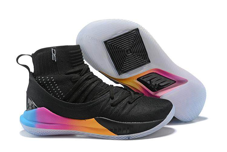 df59fc45e5ee8 Under Armour Official Stephen Curry Curry 5 Mid Top Sneakers Men  Basketaball Shoe SC ( Black