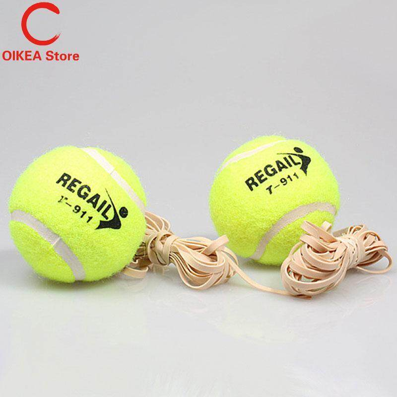 Tennis Ball With Elastic Rubber Rope Beginners Trainer Single Train Tool.