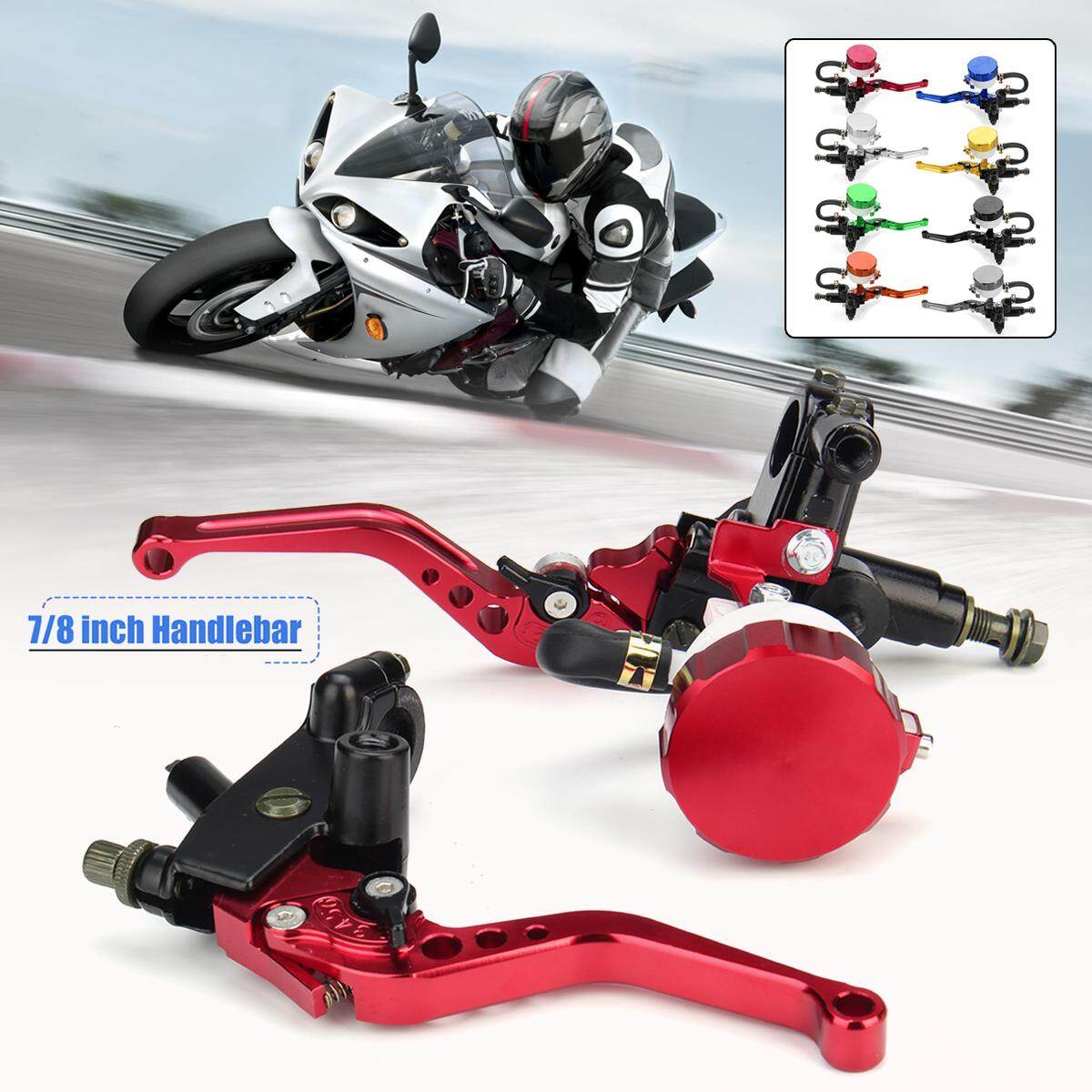 2x Motorcycle Scooter 7/8 22mm Adjustable Brake Clutch Lever Master Cylinder - Intl By Freebang.