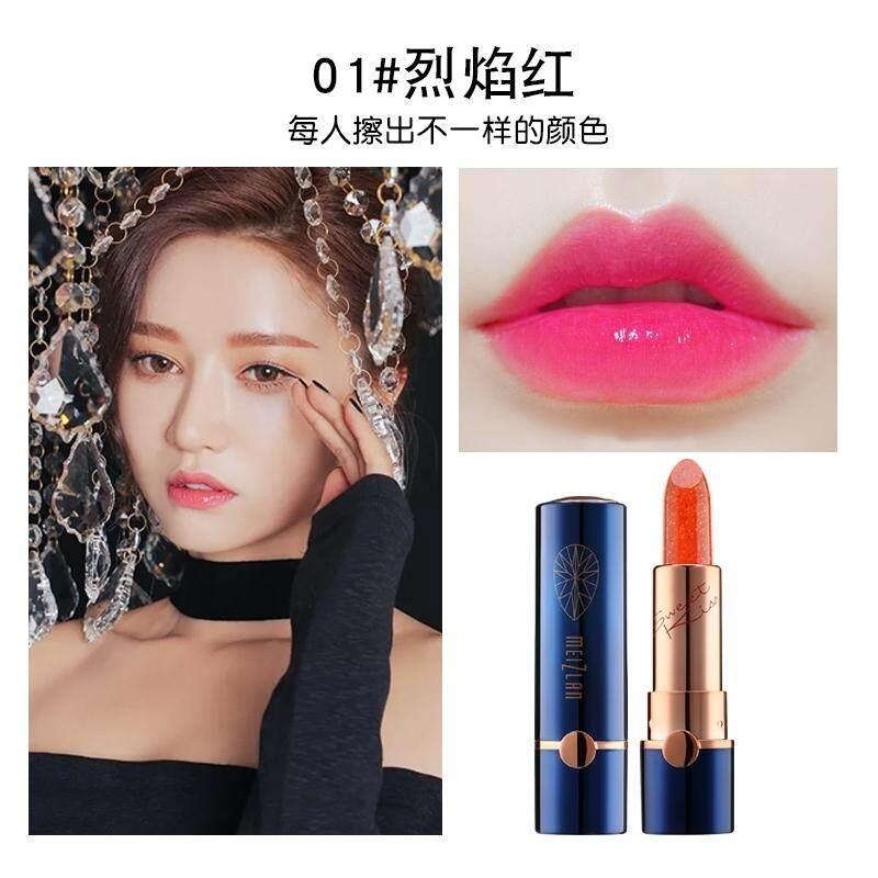 【1 # Api Red】can Makan Emas Lipstik Jeli Melembapkan Tahan Lama Tanpa Tanda Korea Tahan Air Warna Gigitan Makeup Bibir Hamil Lipstik Wanita-Intl