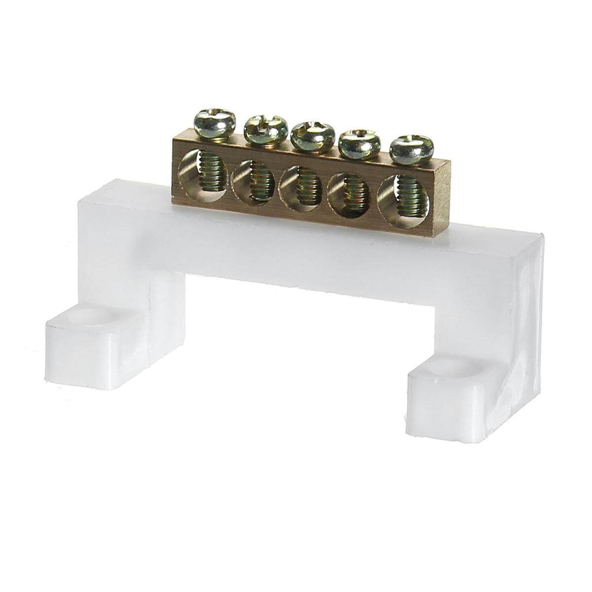 Electric Cable Connector 10 Positions Screw Barrier Terminal Strip Block Bar By Moonbeam.