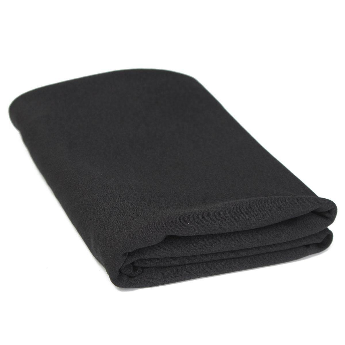 Black Audio Speaker Grill Cloth Stereo Fabric Speaker Mesh Cloth Thick 1.6x0.5m