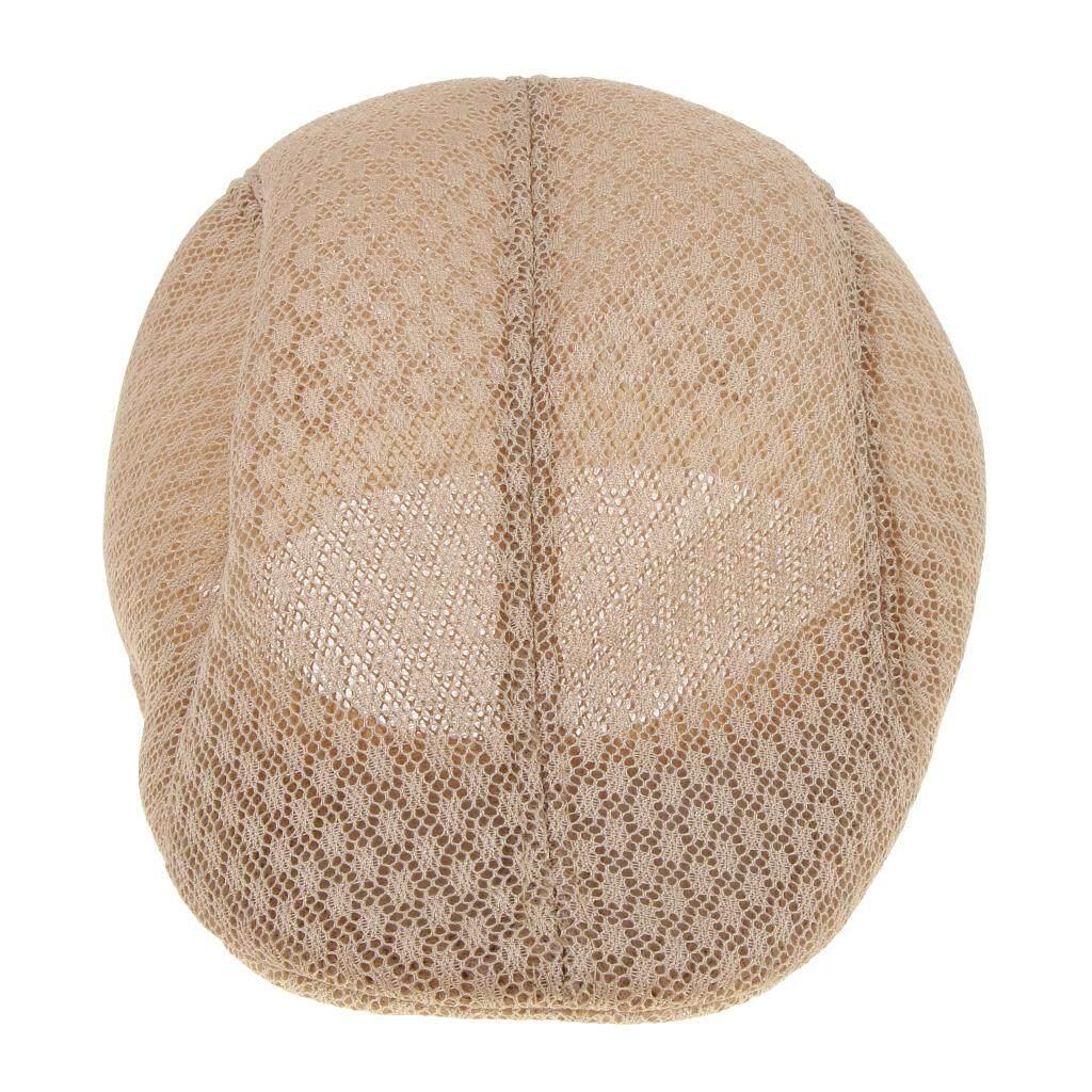fcc3a1566ec MagiDeal Men s Summer Breathable Mesh Newsboy Hat Casual Beret Cabbie Flat  Cap Khaki