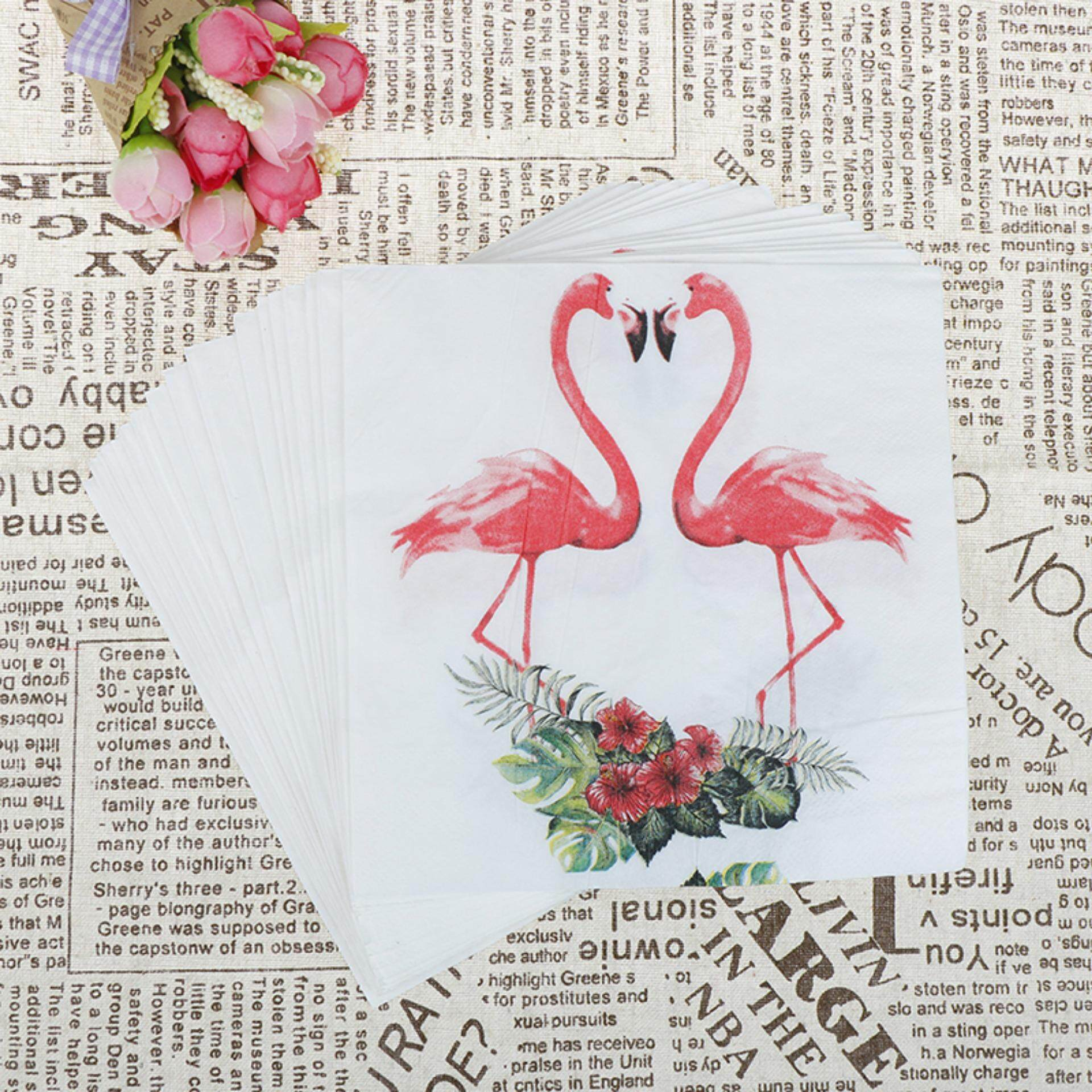 Home cloth napkins buy home cloth napkins at best price in 20pcs flamingo theme paper napkins party tissue for birthday party decor junglespirit Images