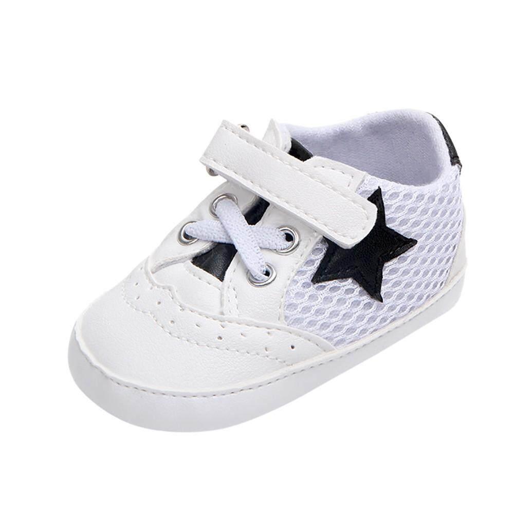 Cocol Max Bayi Bayi Baru Lahir Padat Bintang Mesh Anti-Slip Lembut Sneaker  Sepatu Kasual d1d56c2c19