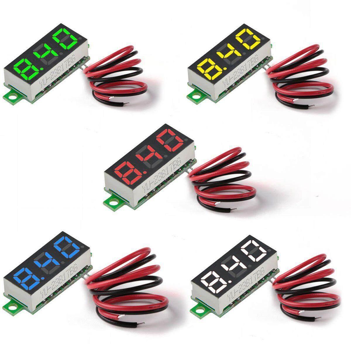 Car Gauges For Sale Fuel Online Brands Prices Reviews In Dragon Gauge Oil Pressure Wiring Diagram 5pcs Mini Digital Dc Voltmeter 028 Inch Two Wire 25v 30v