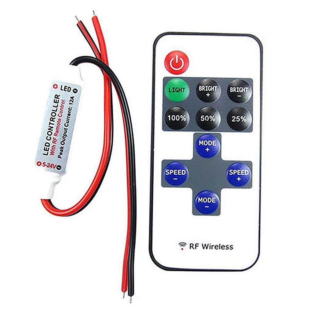 ... 12 V Remote Nirkabel RF Pengatur Sakelar Lampu Dim untuk Mini LED Lampu