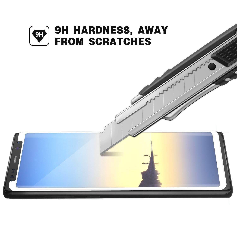 Harga Spesial! cocok untuk Galaxy Note 8 Tempered Gorilla Kasus Kaca dengan Cocok dengan Semua Kasus Kompatibel Premium Sensitif Fleksibel 0.26 Kaca Anti Gores Mm pelindung Layar untuk Samsung Galaxy Note 8 (Putih)