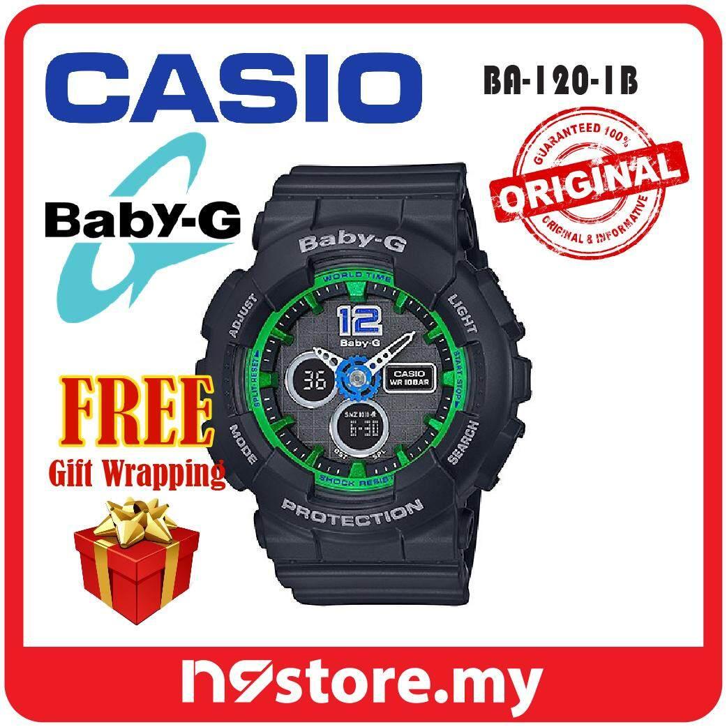 Casio Baby-G BA-120-1B Analog Digital Black Ladies Sports Watch