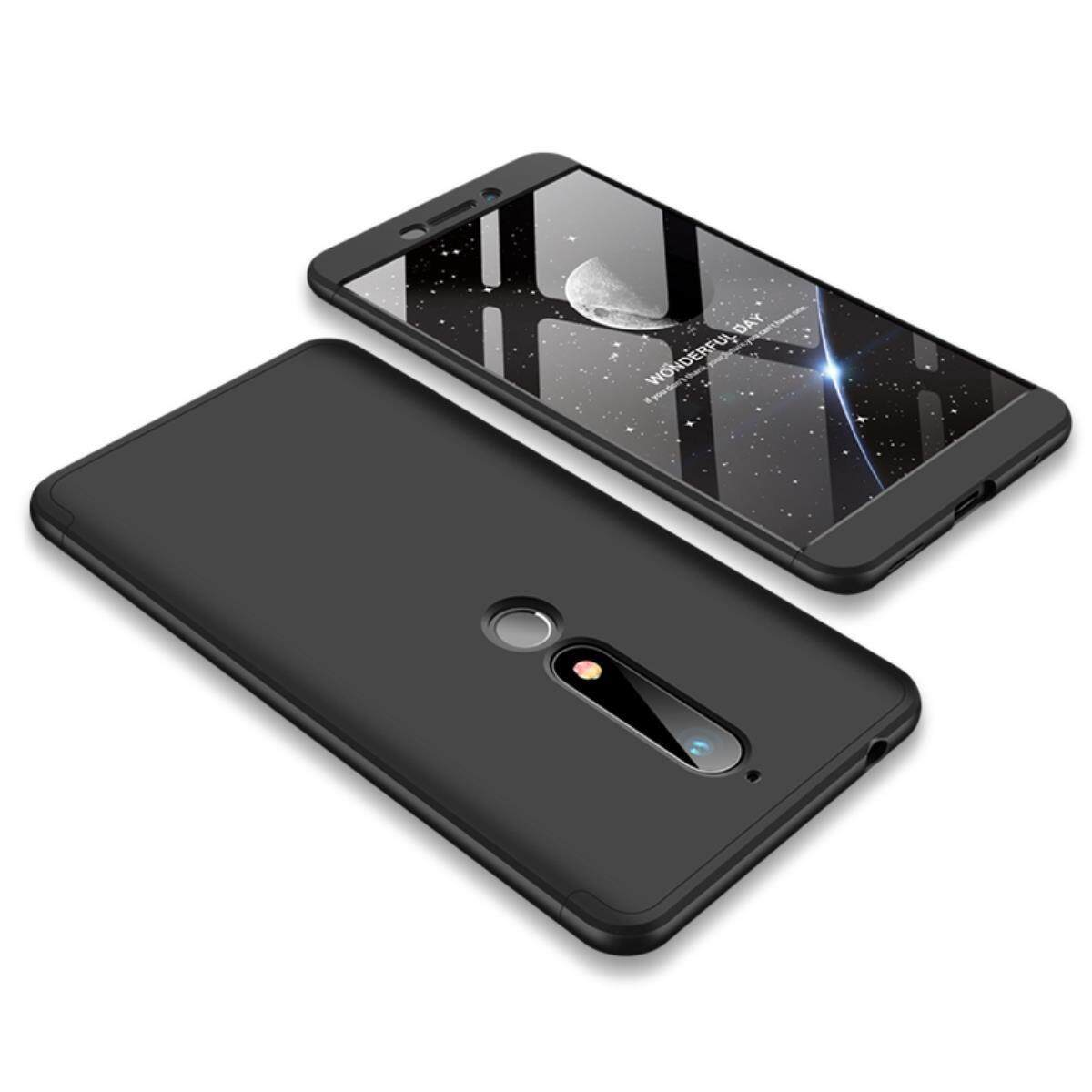 For Nokia 6 2018 3 In 1 Ultra-Thin Shockproof 360 Degree Protection Anti-