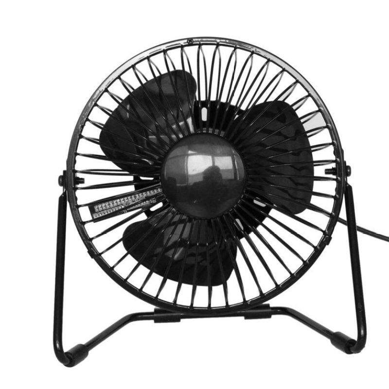 Bảng giá UINN Portable USB Rechargeable Cooling Fan Metal Frame Air Cooler Mini USB Fan Black - intl Phong Vũ