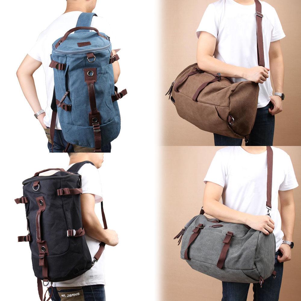 1a8f390c49 Product details of PAlight Men Outdoor travel Vintage Canvas Backpack  Rucksack Laptop Shoulder Duffle Bag - intl