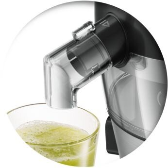 Juice directly into your glass