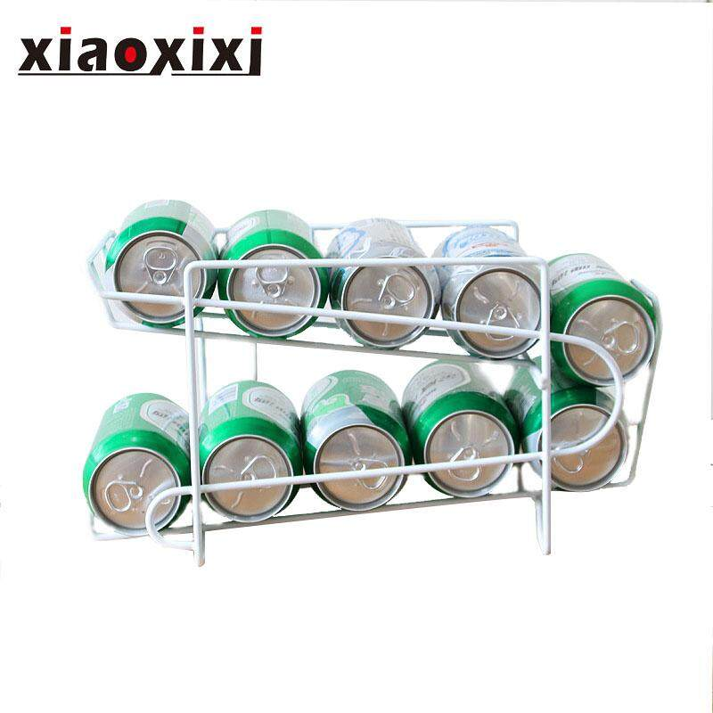Can storage rack, creative, multi-functional, Coke rack, home furnishings, kitchen racks, beer cans storage rack, high quality metal material, compact, home furnishings, durable, fine workmanship, 1pcs (34.5*18.5*14.5cm)