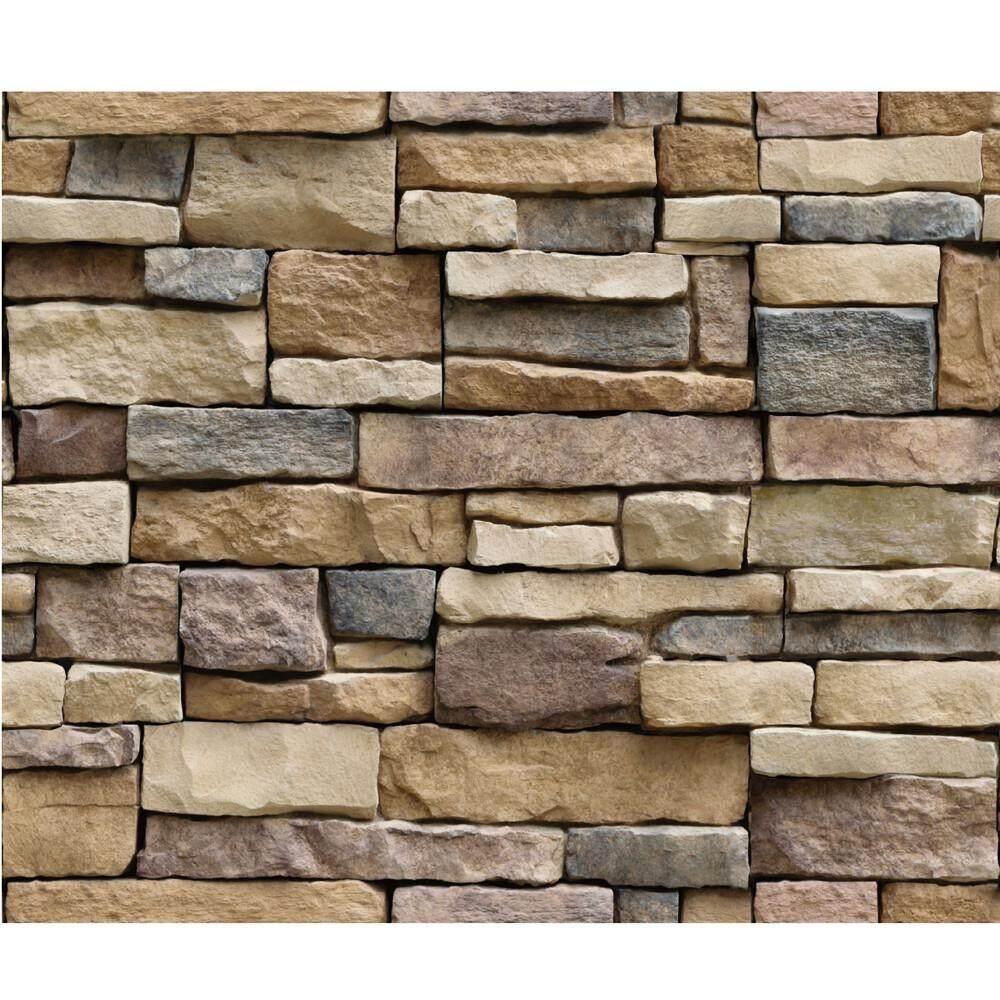 huimarket-3D Wall Paper Brick Stone Rustic Effect Self-adhesive Wall Sticker Home Decor