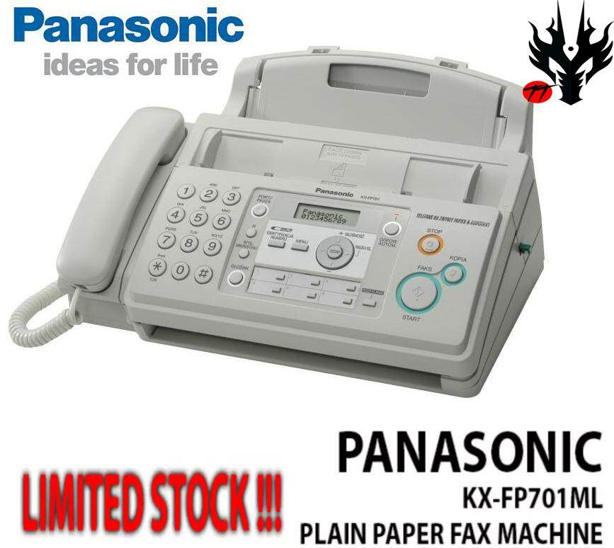 Panasonic Kx-Fp701ml Plain Paper Fax Machine (white) By Tt Online.
