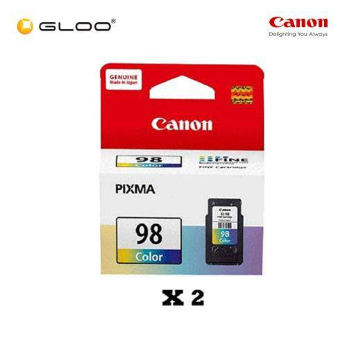 [Set of 2] Canon Ink Efficient CL-98 Ink Cartridge - TriColor