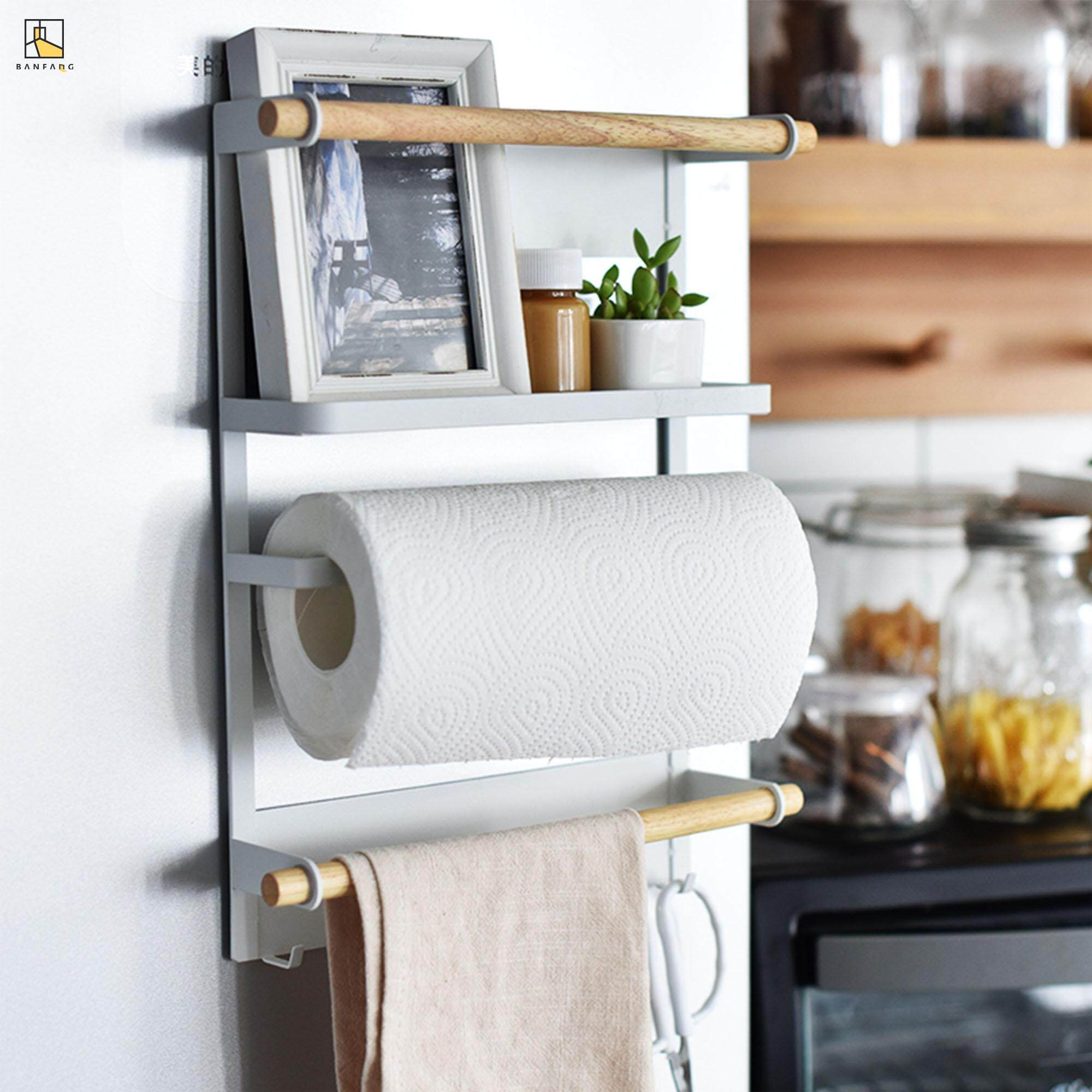 BANFANG Creative Iron art magnetic storage rackfree shipping dish rack kitchen cabinet storage rack lunch box rack kitchen rak pinggan dish drainer shelf rack kitchen storage cake stand stainless steel kitchen rack food container cake mould dish spice