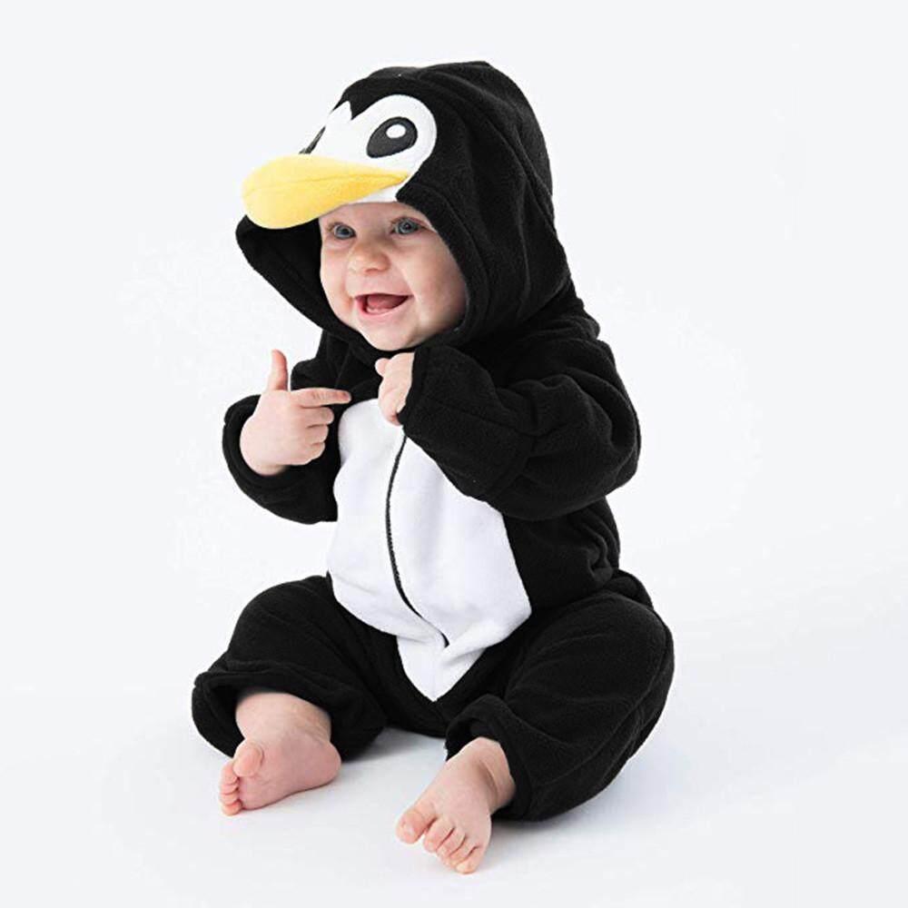 4a4934c15 Aynshop Infant Toddler Baby Girls Boys Cartoon Warm Hoodie Romper Zip  Clothes Jumpsuit