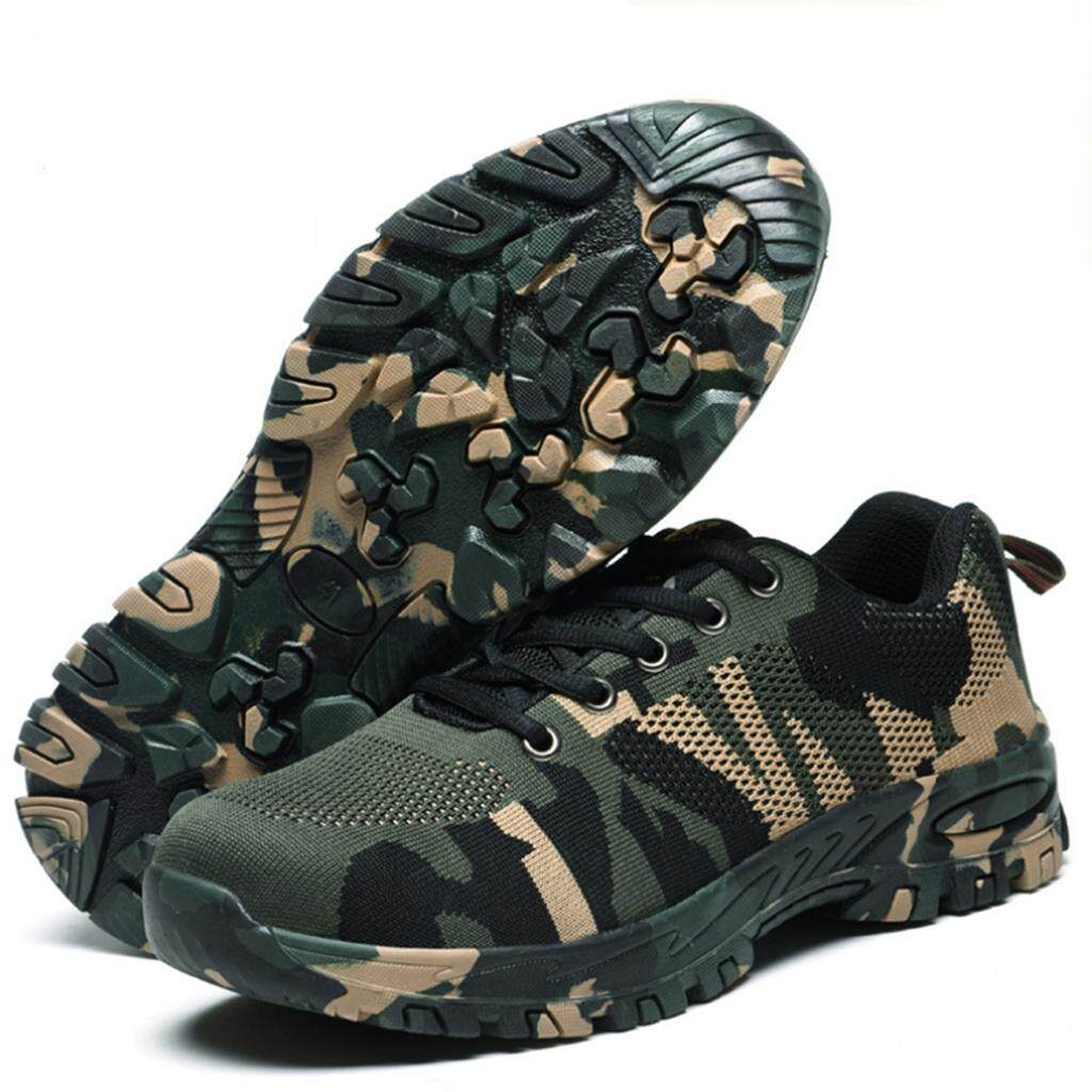 6bd93b3612d Miracle Shining Steel Toe Camouflage Safety Work Shoes for Industrial  Construction 275mm