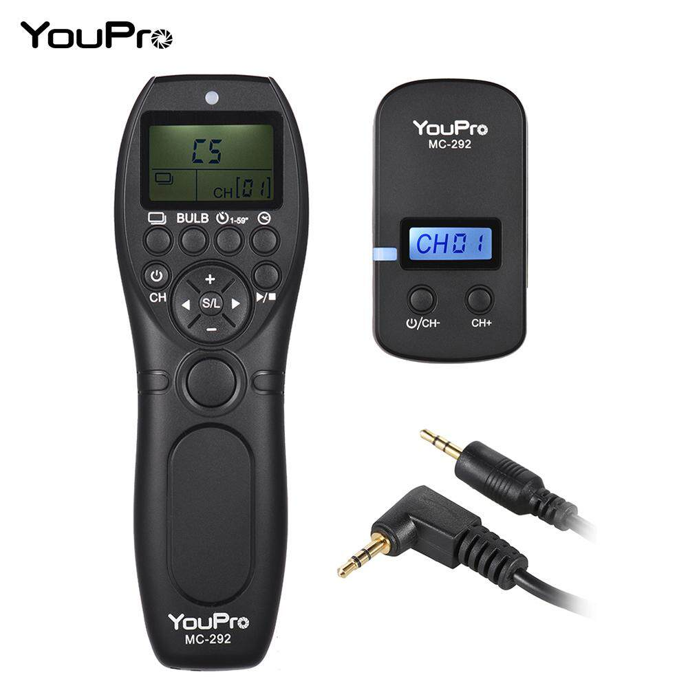 YouPro MC-292 E3 2.4G Wireless Remote Control LCD Timer Shutter Release Receiver 32 Channels for Canon 80D 760D 750D 700D 70D 650D 60D 550D 1200D 100D SX50 G10 G11 G12 G1X for Pentax K-5II K-7 K30 K30D K10D Samsung GX-1L GX-1S NX5 Contax 645 N1 NX Camera