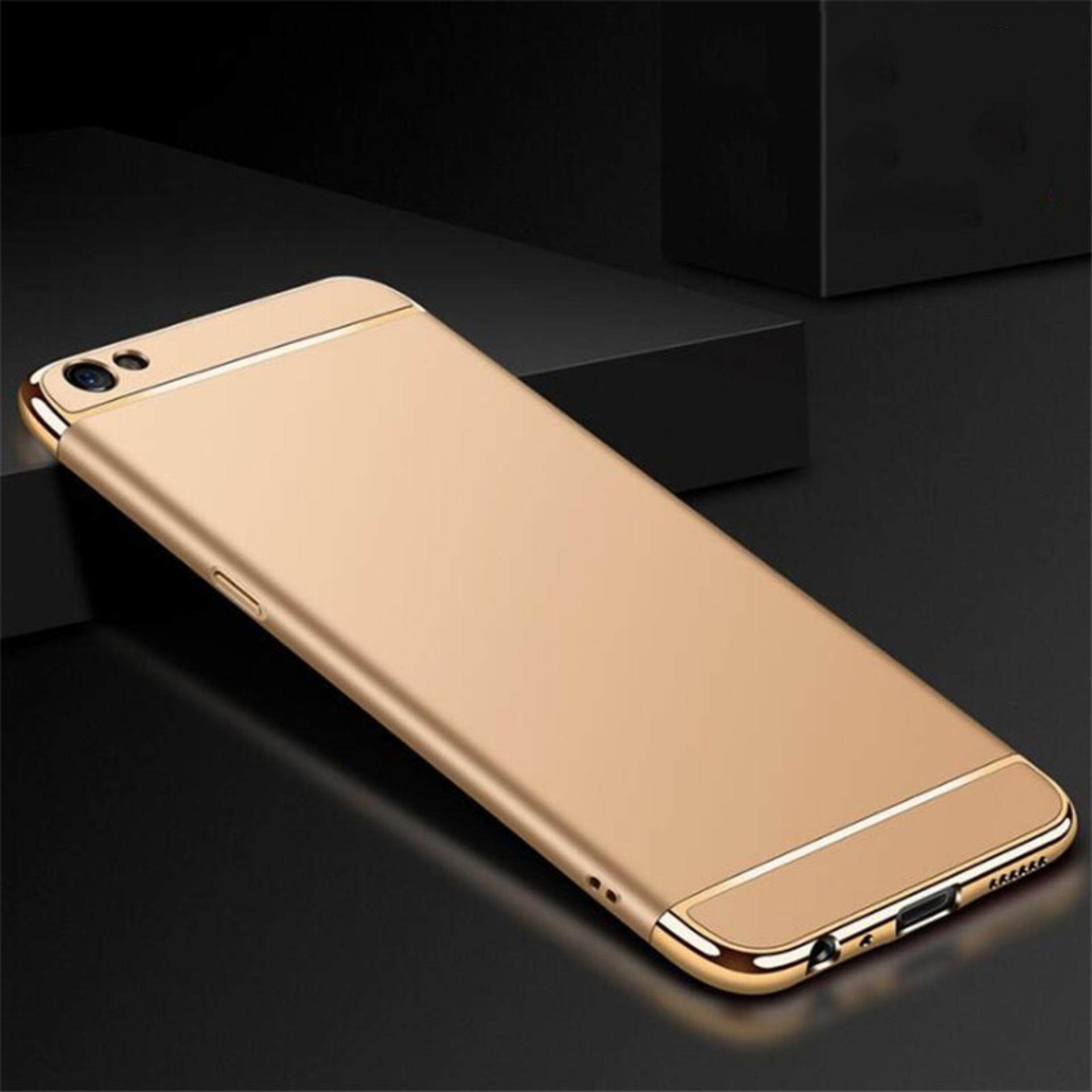 3-in-1 Luxury Plating Scrub Simple Protective Case For Oppo A57 / Oppo