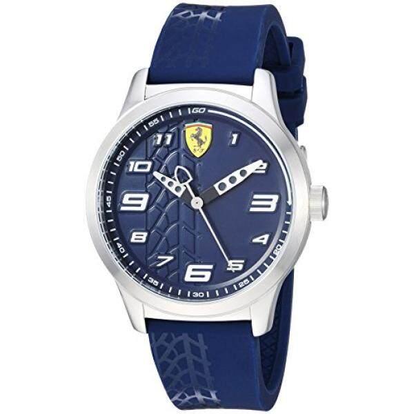 Ferrari Anak Laki-laki Pitlane Kuarsa Baja Anti Karat dan Silikon Jam Tangan Kasual Warna: Biru (Model: 840020)-Intl