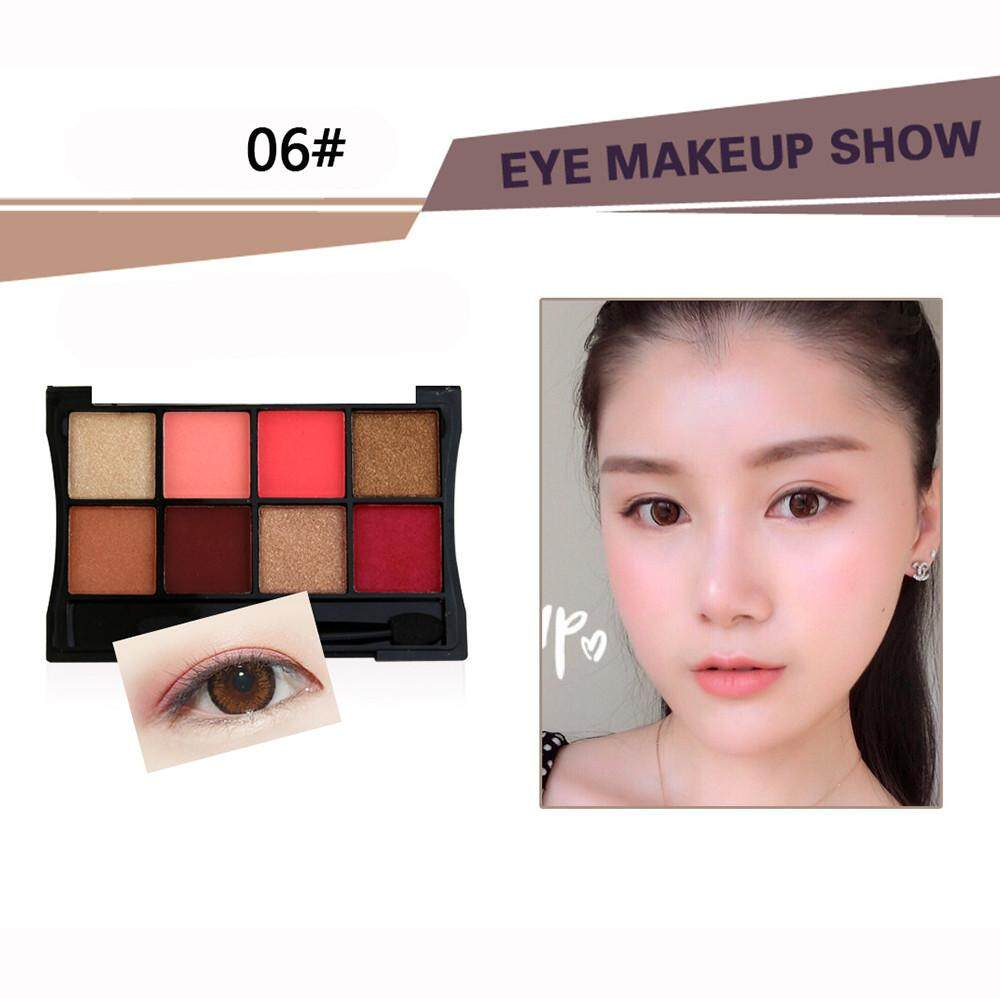 Lion 8 Colors Cosmetic Powder Smoky Eyeshadow Palette Makeup Set Matt Available Philippines